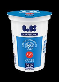 Българско краве кисело мляко 3.6% по БДС