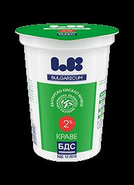 Българско краве кисело мляко 2% по БДС